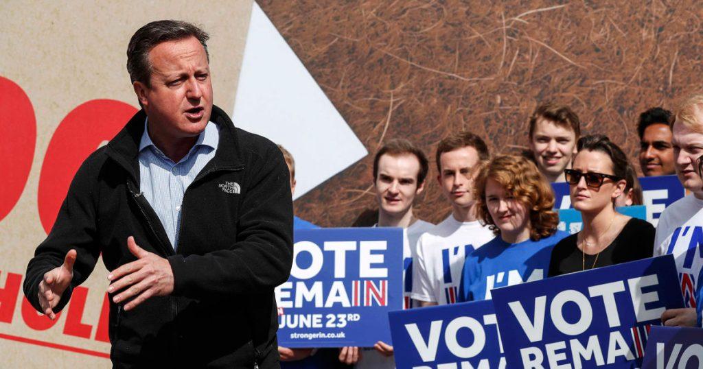 David Cameron en su campaña contra el Brexit