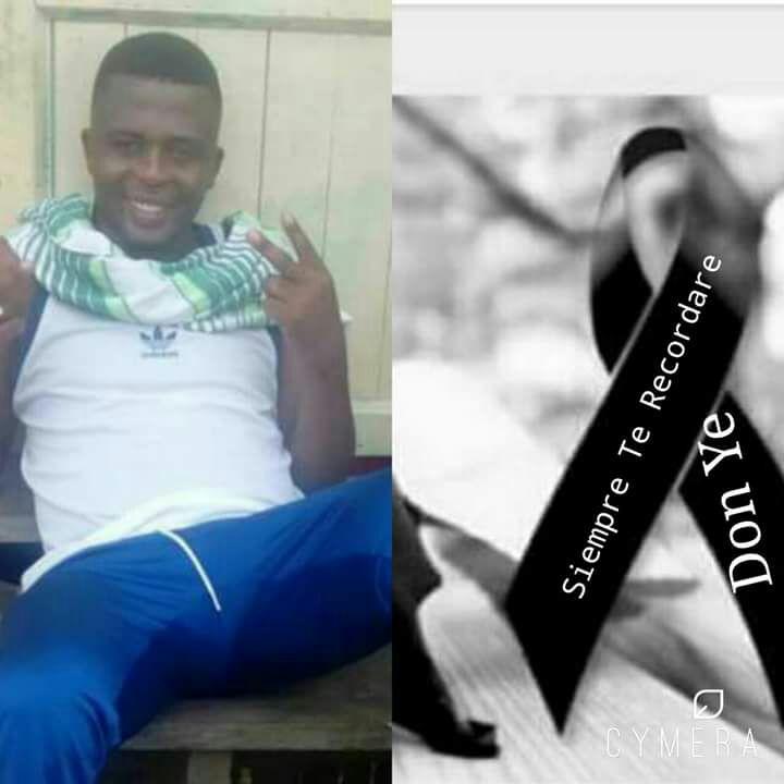 """Yeison Segura Mina, alias """"Don Y"""". (Foto que circuló por las redes horas después de que sus compañeros lo asesinaran)"""