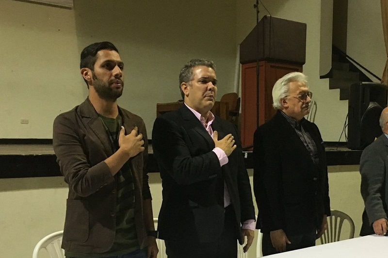 Ivan Duque y el antiguo terrorista Everth Bustamante, aliados ideológicos