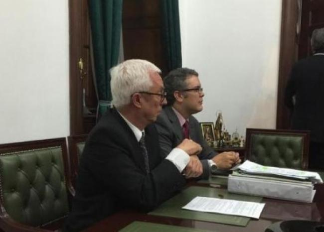 Iván Duque y Jorge Robledo