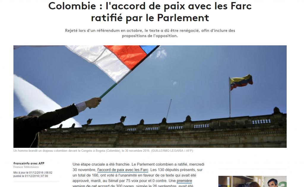 Titular de France Info. Mentira fabricada