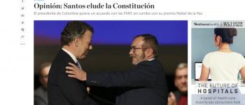 COLOMBIA: REFRENDACIÓN EN FALSO DEL PROCESO DE PAZ
