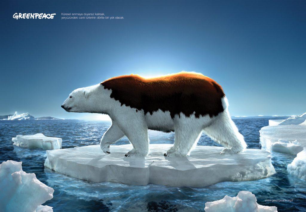 Campaña de Greenpeace divulgando la mentira del calentamiento global