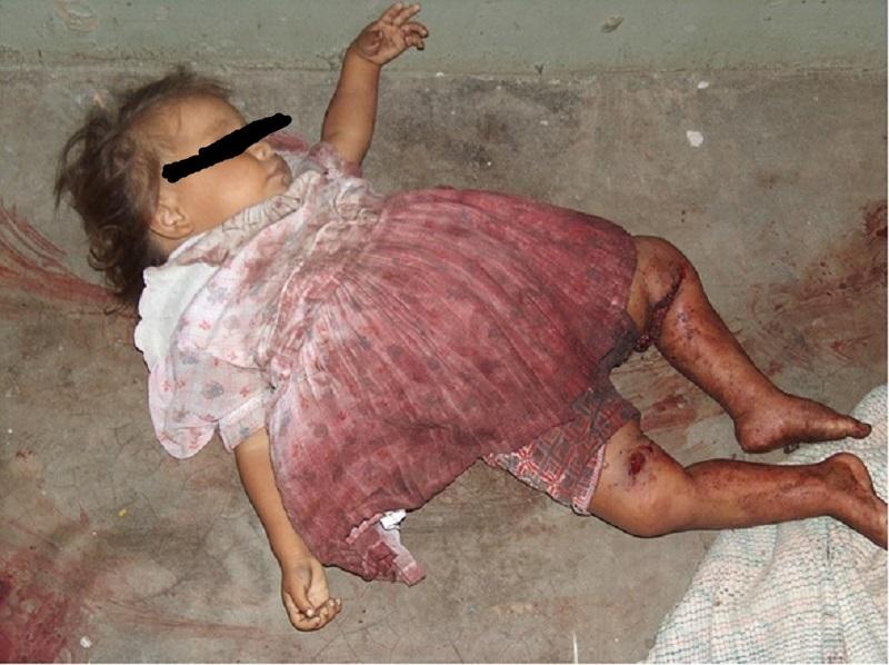 NIña asesinada salvajemente por las FARC