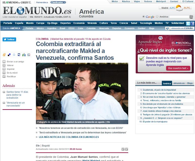 """""""Tenemos acuerdo de extradición con Venezuela Y NO con Estados Unidos"""", dijo Santos hace 6 años"""