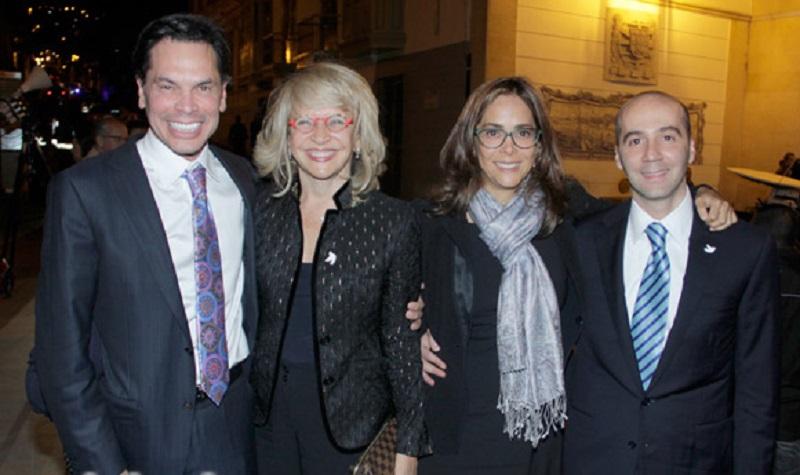 Manuel Parody,Cecilia Álvarez, Gina Parody y Enrique Riveira. Este último, y Cecilia, enredados con el tema Odebrecht