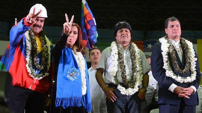 Evo, Correa, Cristina y Maduro