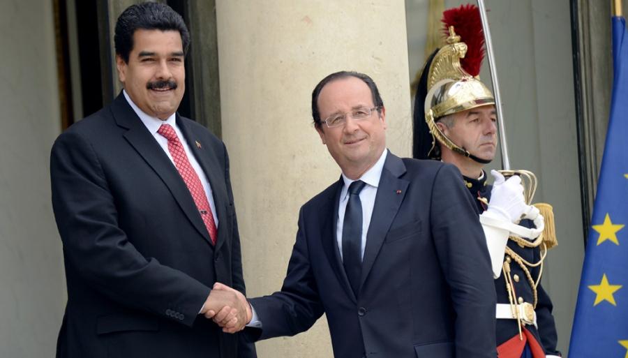 Nicolás Maduro et Hollande