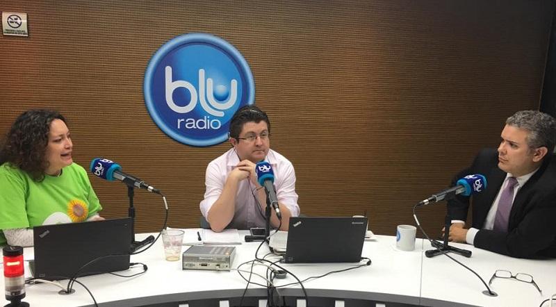 Iván Duque en Blu, la emisora que dirige su cuñado Néstor Morales