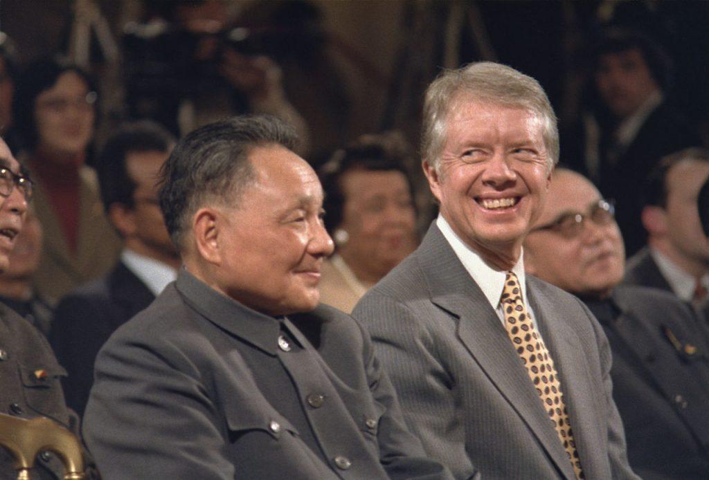 Deng Xiao Ping con Jimmy Carter