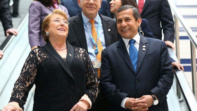 Ollanta Humala y Michelle Bachelet