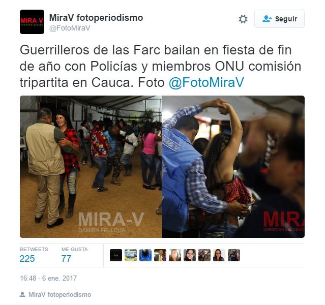 En varios sitios del país, los delegados de la ONU se dedicaron a bailar con las FARC