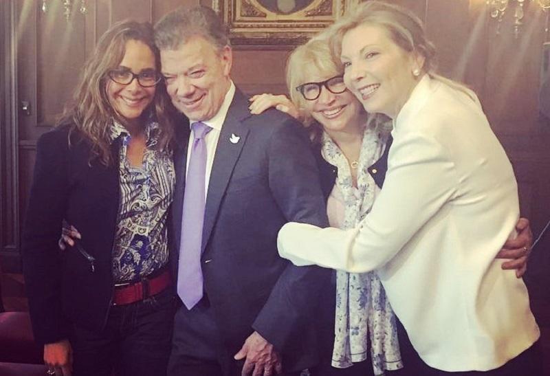 Juan Manuel Santos y su esposa con Gina Parodi y Cecilia Álvarez, enredada en el escándalo de Odebrecht