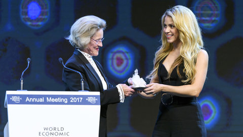 Shakira, premiada en el World Economic Forum