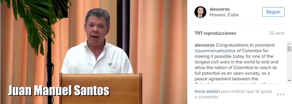 El empeño de los Soros por concretar el acuerdo FARC-Santos.