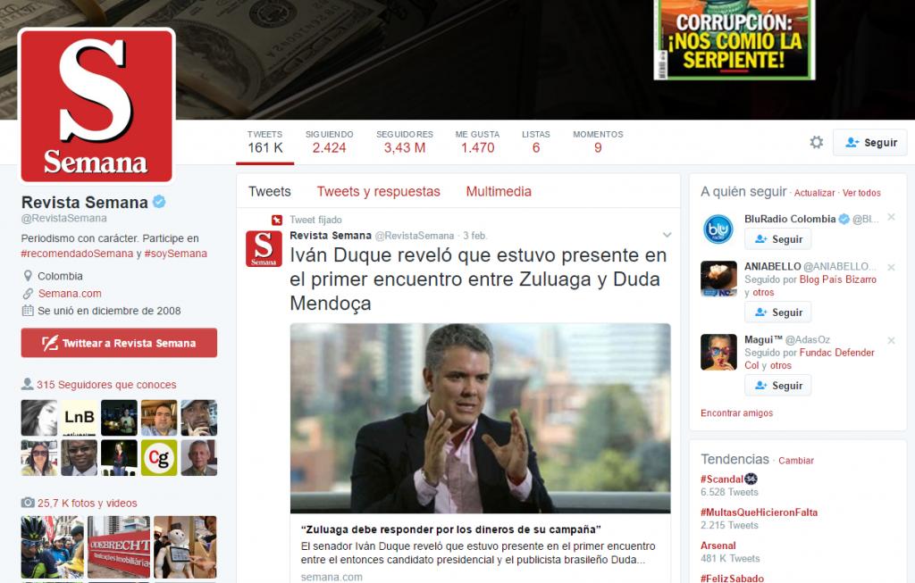 Sospechoso que medios como Semana dediquen primeras planas a aplastar a uribistas anti FARC, y ensalcen a Duque constamente