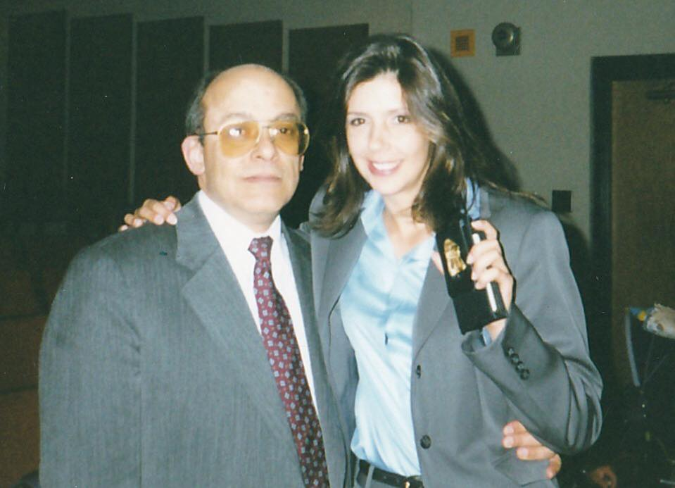 Miguel Posada junto a su hija, Lia Fowler